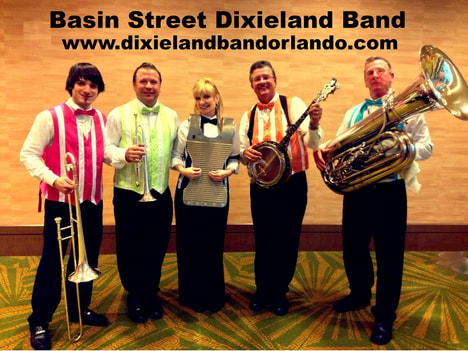 Basin Street Dixieland Band Orlando, Dixieland Band Florida, Convention band Orlando, Trade Show Band Orlando, Trad Show entertainment